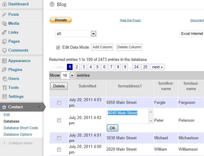 CFDB Plugin » Data Editor