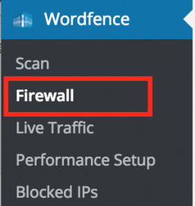 Menu Firewall